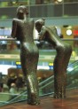 """The Girls at the Airport"" Erected in Terminal 3, Copenhagen Airport, 2000. Sculptor Hanne Varming. Photo: Mike Lamb.  www.hannevarming.dk"